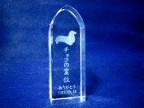 ペット位牌 クリスタル シルエットレーザー彫刻 I