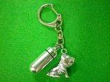 「絆」ペットメモリアル 遺骨カプセルキーホルダー(カプセル 小) 土佐犬