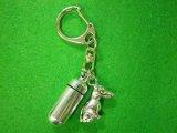 「絆」ペットメモリアル 遺骨カプセルキーホルダー(カプセル 小) イタリアングレーハウンド