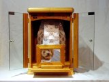 メモリアル刻印付 ガラス扉の仏壇 ラージサイズ【クローバー】【四つ葉】 【送料無料】